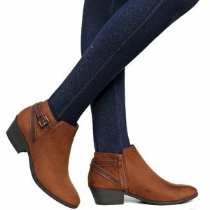 New Cognac Ankle Boots Booties